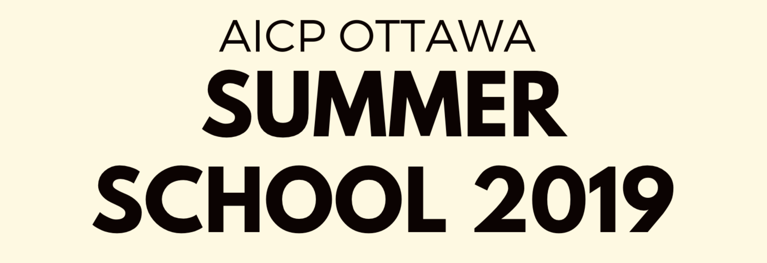 AICP Ottawa Summer School 2019